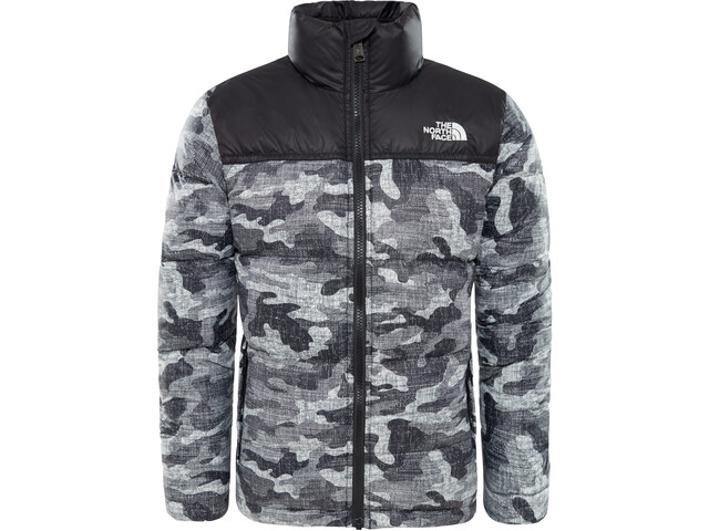 d6d9eb7acd The North Face Nuptse Jacket Children grey black at Addnature.co.uk